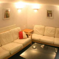 Living area in 7 Rectory Road, Loughborough town centre six bed houses. Great student accommodation location to rent to groups of 6.