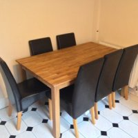 Dining area of 31 Storer Road Loughborough 8 bed student house.