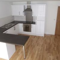 Modern designer kitchen in luxury studio apartments, 1 bedroom Loughborough student flats to let on Nottingham Road Loughborough.