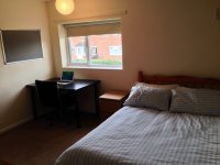 74 Grace dieu Rd student house accommodation in Loughborough has 4 double rooms and 1 single available to groups of 4 of 5. Each bedroom has a premium quality mattress, wardrobe, chest of drawers, desk and chair, shelves, mirror and noticeboard.