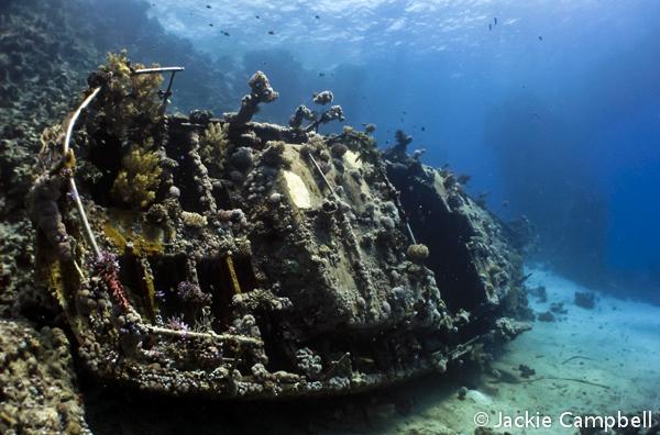 Sunken Yacht, Red Sea, Egypt