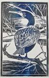 Cormorant Woodblock