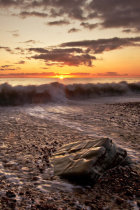 Falling Tide at Sunset, Eype