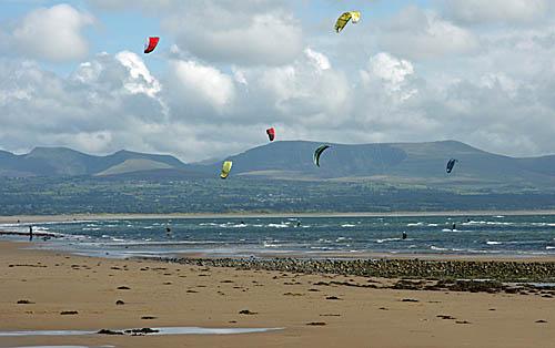 Kitesurfing at Newborough Warren Anglesey