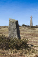 Rock Farm higher menhir, Carn Brea