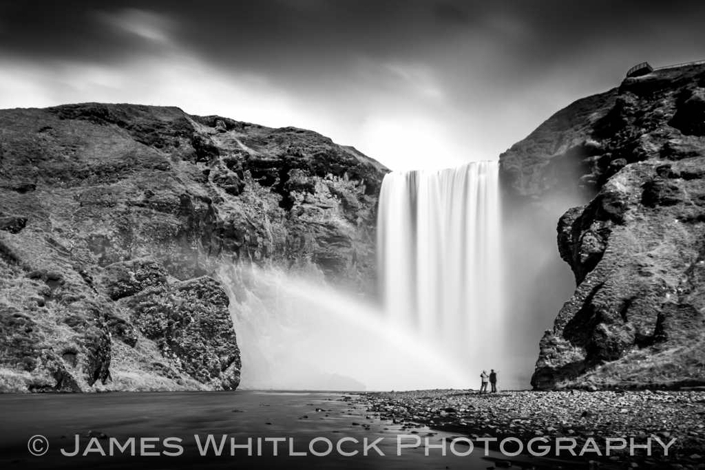 Black Skogafoss Rainbow
