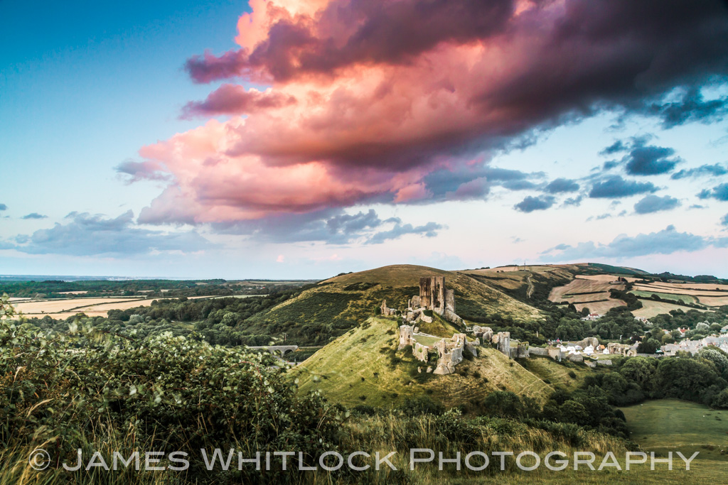 Dramatic Corfe Castle