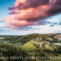 Dramatic Corfe Castle