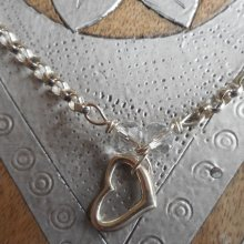 Heart and Crystal Necklace
