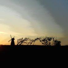 Windmill at Dusk Photograph