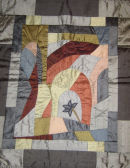 Thoughts silk fabric appliqued wall hanging