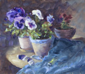 Paints amongst the Pansies