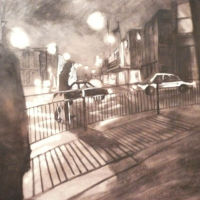 Traffic near bradford Market, Charcoal