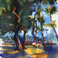 Argeles plage, Watercolour