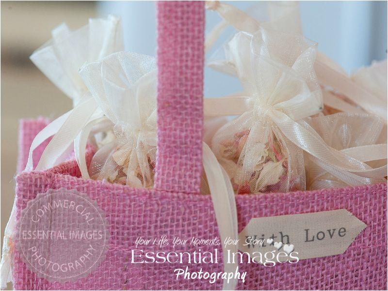 jute bag organza bags dried petal confetti