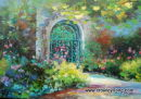 Gate to the potager, Farmleigh (SOLD)