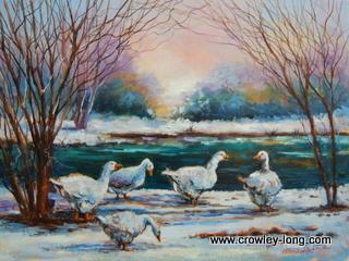Snow Geese ( 16 x 12 )