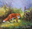 Out-foxed Again    (SOLD)