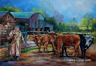Nick Jackman and Cattle (SOLD)
