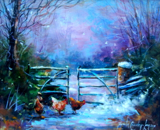 A Sprinkling of Frost (10 x 12 inches)