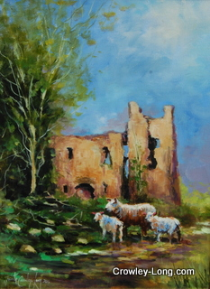 Within These castle Walls (16 x 12 inches)
