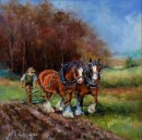 Ploughing Match (16insx16ins) Sold