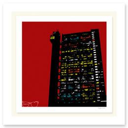 TRELLICK TOWER RED SCREENPRINT