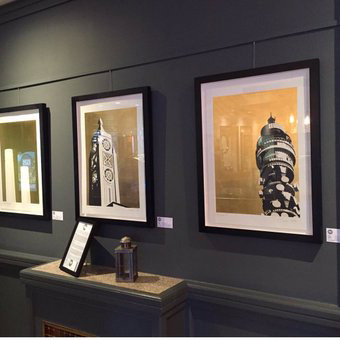 Framed prints at Crucial Foods Gallery