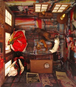 'THE WOLF'S HOUSE', 2012 Interior Detail, mixed media