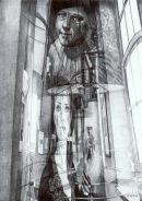 'Self-portrait, Jurgen Bey Lamp', 2006  Black Biro 21cm x 30cm