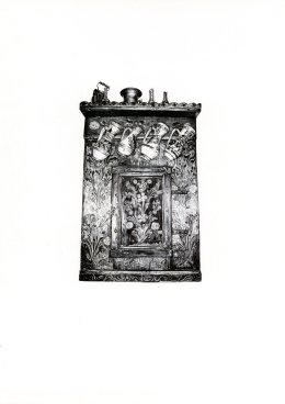 'The Cupboard', 2009 'Tales from the East' Series Black Biro Drawing 42cm x 30cm