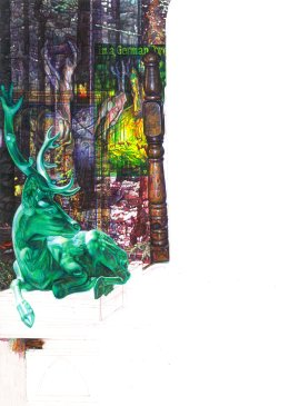 'KABOOM WHERE DID ALL THE ANIMALS GO?', 2010 COLOUR BIROS 42cm x 60cm