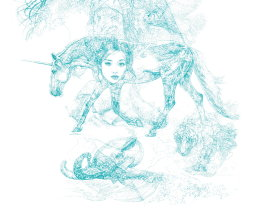 'HIROSHIMA UNICORN PINUP', DETAIL