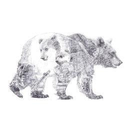 'Mummy Bear and Baby Bear', Brown Bears, 2013 Black Biro Drawing