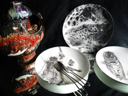 A Touch of Opulence - Limited Edition Fine English China Coupe Plates