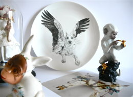 China Menagerie - Limited Edition Fine English China Coupe Plates