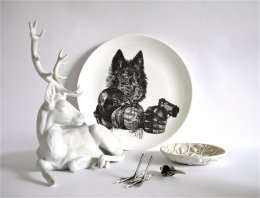 In a China Forest - Limited Edition Fine English China Coupe Plates