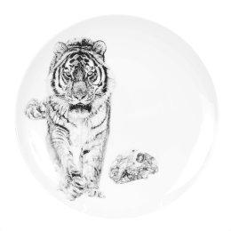 'Bang!', Siberian Tiger Limited Edition Fine English China Coupe Plate