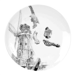 'Our Forefathers', Amur Leopard Limited Edition Fine English China Coupe Plate