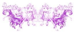 'SEAWIND', 2012 Original Purple Biro Drawing 20cm x 42cm