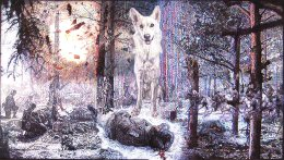 'TV SCREEN III - EAST MEETS WEST, FORESTS' MEMORIES', 2010 'Tales from the East' Series Colour Biro Drawing 35cm x 60cm