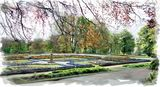 Sunken garden at Manor Heath, Halifax