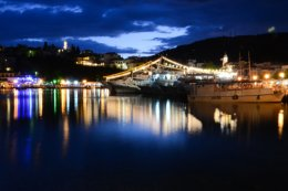 """""""all is calm"""" - Skiathos Old Port, at night"""