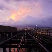 Industrial Pier Purple Sky