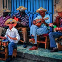 Cuban band playing al fresco, Havana