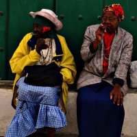 Ladies smoking cigars, Havana, Cuba
