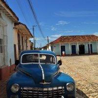 Blue vintage car, Trinidad, Cuba
