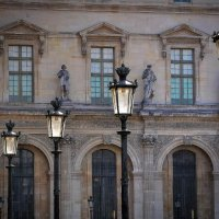 Louvre Lamp Posts