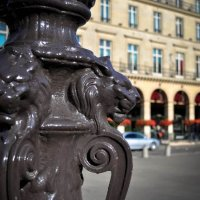 Parisian Lamp Post Lions