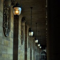 Hanging Lamps in Passageway - Paris, France